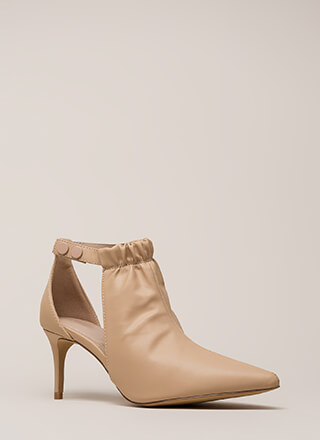 World Traveler Pointy Cut-Out Heels