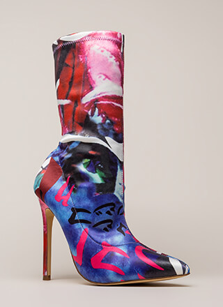 Abstract Idea Pointy Sock Booties