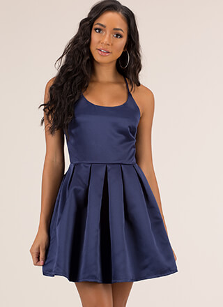 Party Girl Strappy Flared Minidress