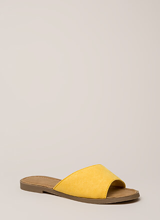Curve Your Appetite Slide Sandals