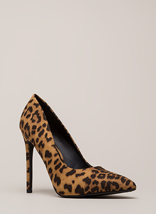Wild Streak Pointy Leopard Pumps