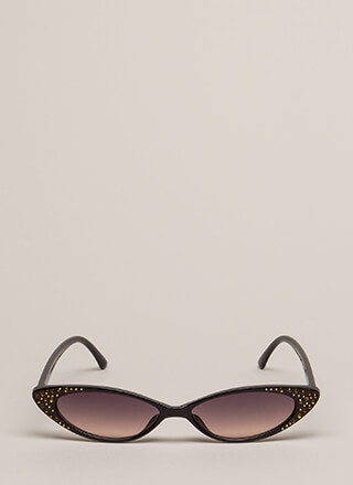 Hey Slim Jeweled Cat-Eye Sunglasses