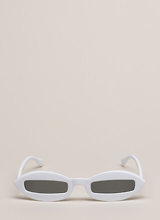 Narrow-Minded Slim Sunglasses