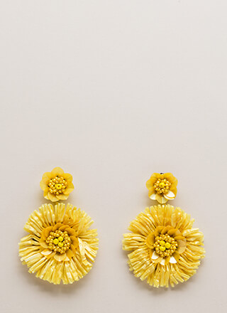 Come Into Bloom Beaded Flower Earrings