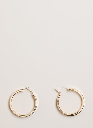 Getting Thick Hoop Earrings