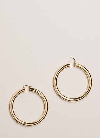 Pipe Dreams Thick Hoop Earrings