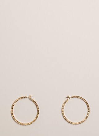 Necessity Rhinestone Hoop Earrings