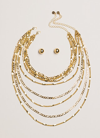 Chains For Days Layered Necklace Set