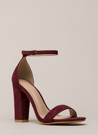 Ride Or Die Chunky Ankle Strap Heels