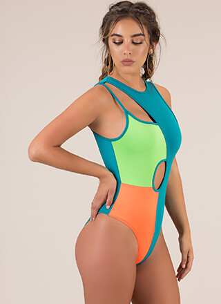 Cut-Out Of My Life Colorblock Bodysuit
