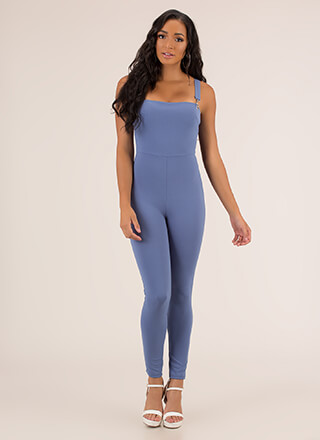 Number One Overall Strappy Jumpsuit