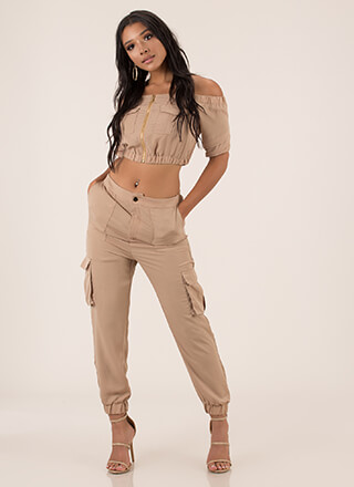 Precious Cargo Top And Jogger Set