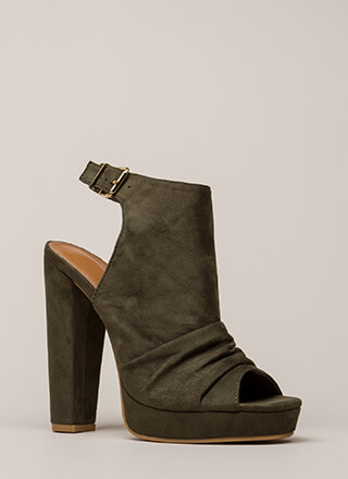 Slight Slouch Chunky Peep-Toe Platforms