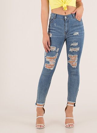 Head Start Distressed Skinny Jeans