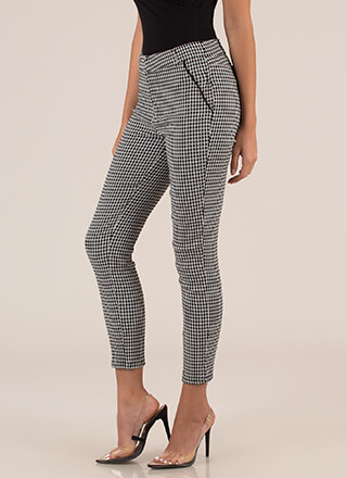 Everything's Going Grid Cigar Pants