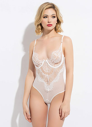 Lesson In Lace Underwire Bodysuit