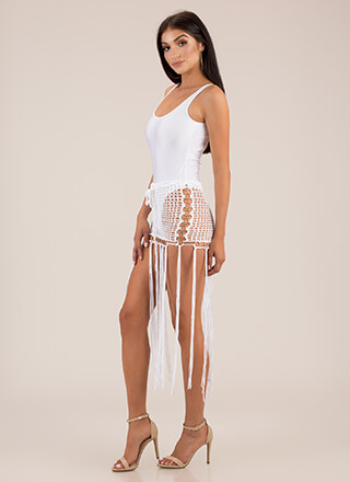 Ring It Up Fringed Crochet Cover-Up