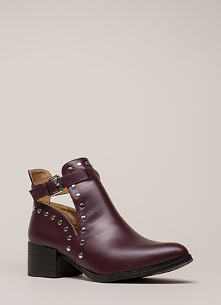 Heading West Studded Block Booties