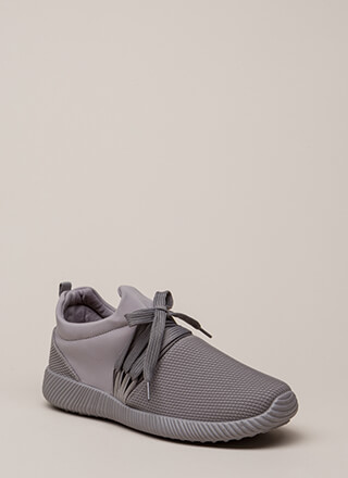 Good Run Netted Lycra Platform Sneakers