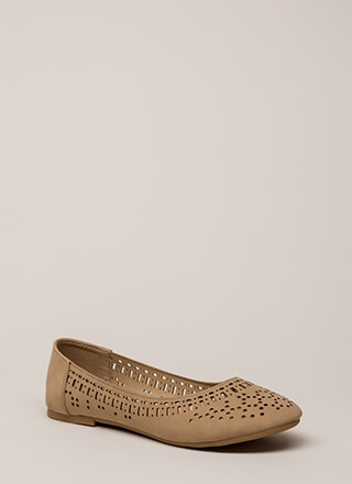 Make The Cut Latticed Ballet Flats