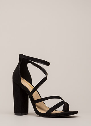 Never Enough Chunky Strappy Heels