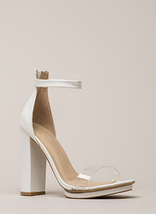 Hey Slim Chunky Faux Patent Platforms
