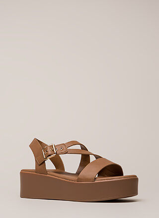 Added Bonus Strappy Wedge Sandals