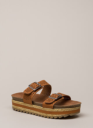 Just Beachy Platform Slide Sandals