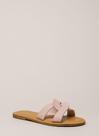 Let's Link Up Looped Slide Sandals