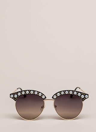 Eye See You Faux Pearl Sunglasses