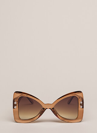 Bow Em Gee Faux Pearl Sunglasses