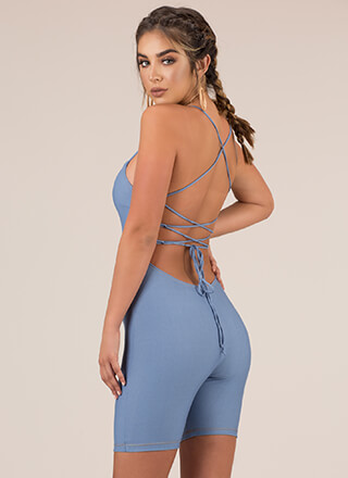 Turn Of Events Lace-Back Romper