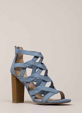 Knot Stuff Cut-Out Caged Chunk\y Heels