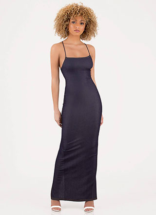 Turn Of Events Lace-Back Maxi Dress