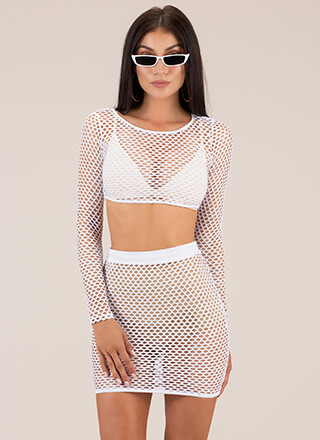 Nothin' But Net Two-Piece Minidress