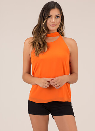Neck And Neck Collared Tank Top