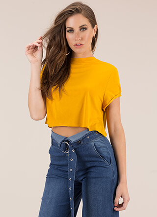 Day In And Day Out Boxy Crop Top