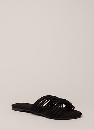 Loop Dreams Strappy Faux Suede Sandals