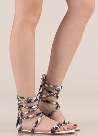 Tropical Vacation Strappy Sandals