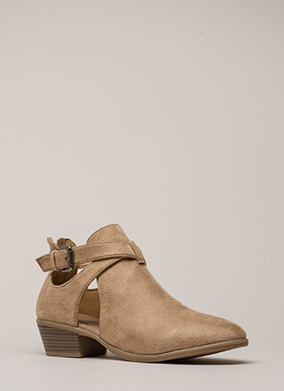 Wrap Song Strappy Cut-Out Booties