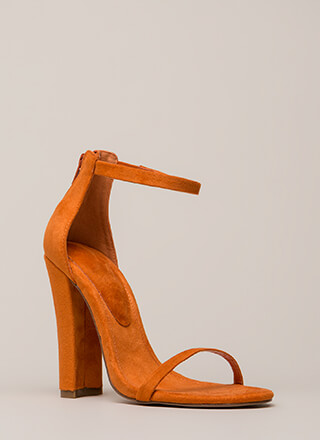 Skinny Dipping Chunky Ankle Strap Heels