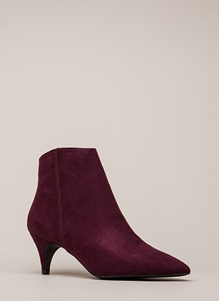 Short Notice Kitten Heel Booties