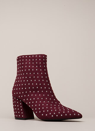 Studded Stunner Pointy Chunky Booties