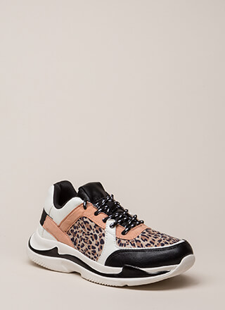 Running Wild Leopard Colorblock Sneakers