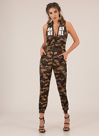 Baby Girl Camo Jogger Jumpsuit