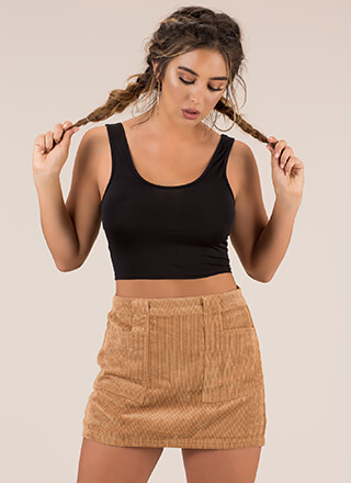 Gotta Have It Corduroy Miniskirt