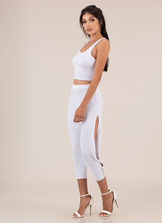Split The Difference Top And Pant Set