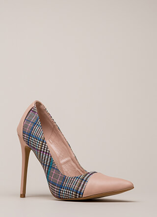 Point Me In The Plaid Direction Pumps