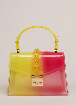 It's Becoming Clear Jelly Handbag