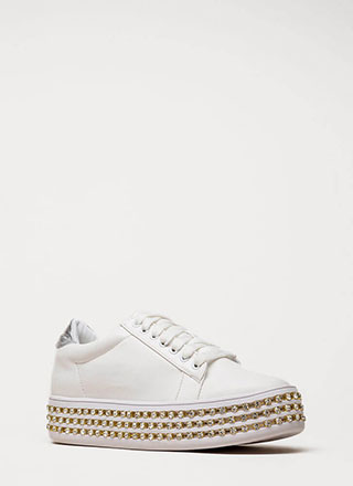 Everything Ice Jeweled Platform Sneakers